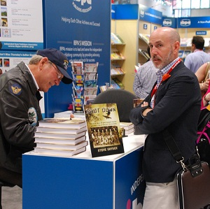 IBPA member Steve Snyder, speaker and author of SHOT DOWN, signed copies of his book in IBPA's Cooperative Booth at BookExpo/BookCon