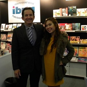 IBPA COO Terry Nathan (left) and IBPA Project Manager Mimi Le (right) represent IBPA member titles at the Frankfurt Book Fair