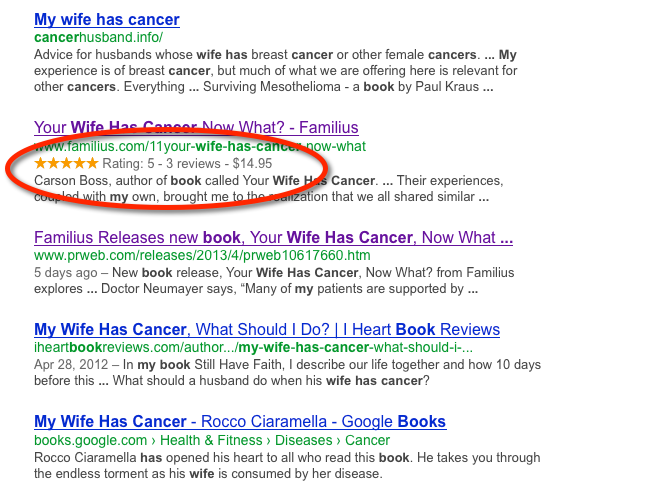 Google Rich Snippets For Books
