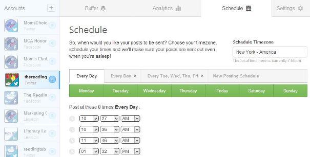 A Buffer Schedule