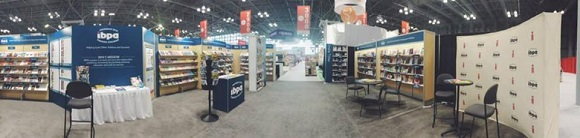 A panoramic view of IBPA's Cooperative Booth at before the show started