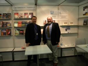 Stephen Buda of J. Ross Publishing  (left) with John Atkin of Silvermine International (right)