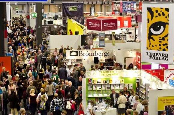 One of the many show floors at the Frankfurt Book Fair.