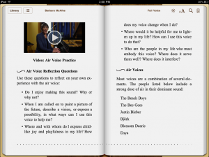 A look into the enhanced edition of Full Voice on the iPad.