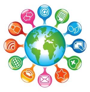Social-Media-Globe.The development of global communications