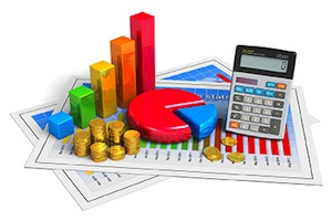 Financial business analytics concept