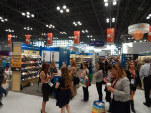 The IBPA Cooperative Booth was busy throughout BookExpo/BookCon 2015. (CLICK TO ENLARGE IMAGE)
