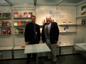 Stephen Buda of J. Ross Publishing  (left) with John Atkin of Silvermine International (right)