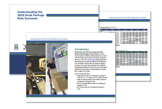 Download a FREE copy of Partnership's electronic white paper on the 2016 small package rate increases on their website.